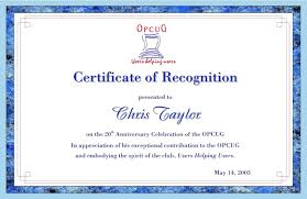 Certificate Of Recognition Wordings Examples Certificate Of Recognition Wording With Format Plus For