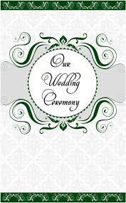 Border Designs For Wedding Programs Wedding Program Cover Template 13c