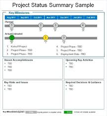 Weekly Project Status Report Sample Monthly Project Status Report Template Royaleducation Info