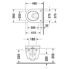 commercial wall hung toilet