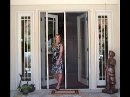 retractable screen door retractable screen door for sliding glass door
