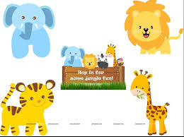 Jungle Theme Birthday Invitations Baby Jungle Theme Posters Pack Of 5