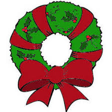 Image result for cartoon image of a christmas wreath