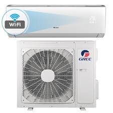 gree livo 18 000 btu 1 5 ton wi fi programmable ductless mini split air conditioner with