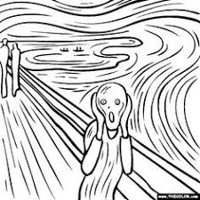 the scream coloring sheet. Wonderful Scream Fantastic Collection Of Coloring Pages Based On Famous Works Art This  One Happens To Be Edvard Munch But There Are Tons With The Scream Coloring Sheet C