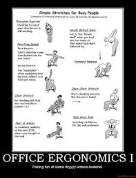 funny office poster. Ergonomics Poster For Office Desk Exercises Funny