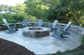 outdoor firepit and patio space fairfield ct