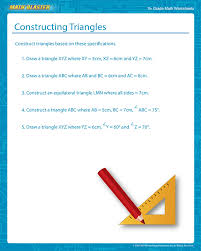 Constructing Triangles - Free Construction of a Triangle Worksheet ...