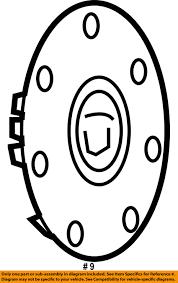 929x1479 cadillac gm oem 07 11 sts wheels center cap 9596982 ebay