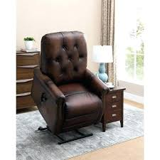 leather wingback recliner chair tufted leather recliner chair brown tufted premium top grain leather power lift