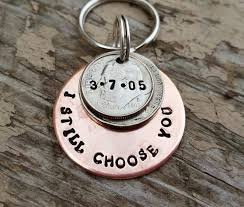 best 25 15 year anniversary ideas on pinterest 15 year wedding Wedding Anniversary Keychain 15 year anniversary keychain handstamped gift anniversary for men husband wife lucky us couples 15 years and counting 2001 wedding by tiffyslove on etsy 25th wedding anniversary keychain