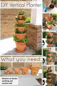 vertical claypot tower garden ideas