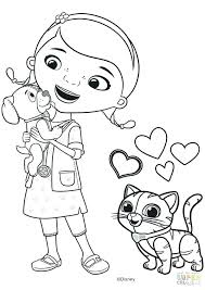 Wonderful Doc Mcstuffins Color Page Doc Coloring Pages Online Doc