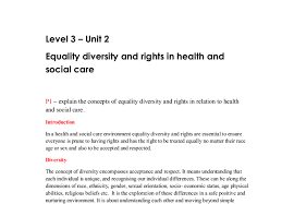 equality diversity and rights in health and social care a level document image preview