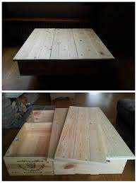 Coffee Tables Out Of Pallets Coffee Table Made Out Of Upcycled Wine Boxes Pallet Top O Pallet