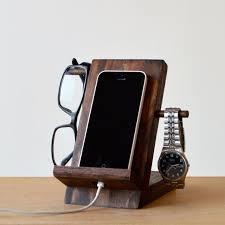 phone stand and organizer dark finish by pineprairie on