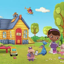 People interested in doc mcstuffins wallpaper also searched for. York Wallcoverings Walt Disney Kids Ii Doc Mcstuffins 10 5 X 72 Wall Mural In 2021 Doc Mcstuffins Walt Disney Kids Cartoon Kids