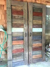 rustic closet doors barn made from reclaimed wood by rustic closet doors
