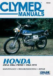 motorcycle shop service repair manuals from clymer honda 250 350 cc twins motorcycle 1964 1974 service repair manual