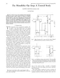 Design Aspects Of Monolithic Op Amps The Monolithic Op Amp