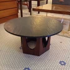 furniture appealing slate top coffee table mid century harvey probber gorgeous round vintage lift rustic