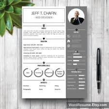 Resume Template Modern, Cover Letter Word, CV Template, Modern Professional  Resume Template Design