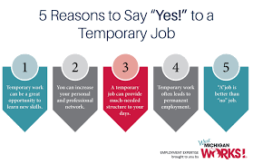 employment expertise five reasons to say yes to a temporary employment expertise five reasons to say yes to a temporary job news holland sentinel holland mi