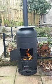 robert s finally finished making his bespoke gas bottle wood burner barbecue smoker