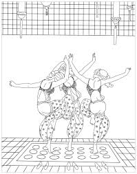 Dance Coloring Pages For Adults