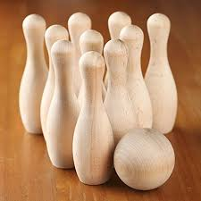 Game Of Skittles Wooden Wood Bowling Pins Trainers100Me 98