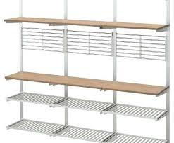 metal wire shelving new suspension rail with shelf grid gives wall ikea rack 7