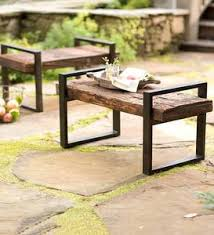 Metal and wood patio furniture Living Room Reclaimed Wood And Iron Outdoor Bench Best Decor Things Outdoor Furniture Plowhearth