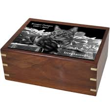 pet urns perfect wooden box cat urn with photo tile swh 003c