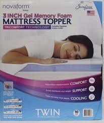 novaform 3 pure comfort memory foam mattress topper. $67.99 novaform 3 pure comfort memory foam mattress topper g