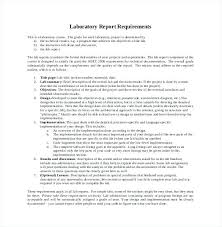 Format Of Laboratory Report Requirement Science Lab Example
