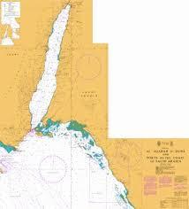Gulf Coast Nautical Charts Al Aqabah To Duba And Ports On The Coast Of Saudi Arabia