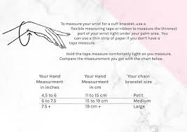 Cuff Bracelet Size Guide Masymetric