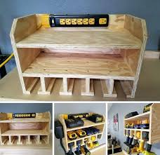 diy garage tool storage power tool charging station garage ideas diy garage garden tool organizer