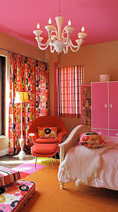 orange & pink girls room