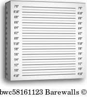 Height Chart Blank 51 Mugshot Height Chart Mugshot Height Chart Canvas Prints And