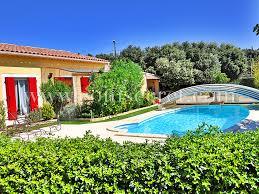 location d une villa climatisée avec piscine privée couverte à sérignan du tat