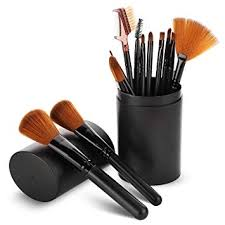 amazon makeup brush sets 12 pcs makeup brushes with case best for foundation eyeshadow eyebrow eyeliner blush powder concealer contour beauty