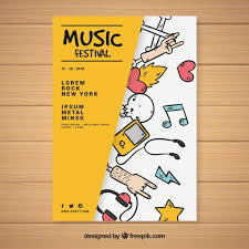 Poster Templet Creative Music Festival Poster Template Vector Free Download