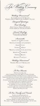 Catholic Wedding Mass Program Order Of Service For Church Weddings Templates