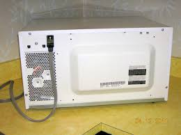 sharp microwave parts. back view of the microwave. sharp microwave parts l