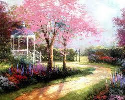 kinkade thomas spring landscape