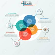 Modern Infographics Options Banner Area Chart With 4 Intersection