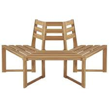 "<b>Tree Bench Half-hexagonal</b> 63"" Solid Acacia Wood - Walmart.com"