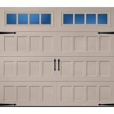 pella carriage house 96 in x 84 in insulated sandtone single garage door with