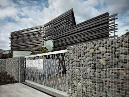 decorative metal fence panels. Decorative Garden Fence Panels: With Natural Stone And Metal Panels V